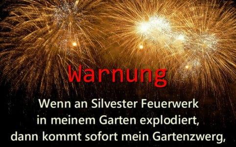 Feuerwerks-Warnung