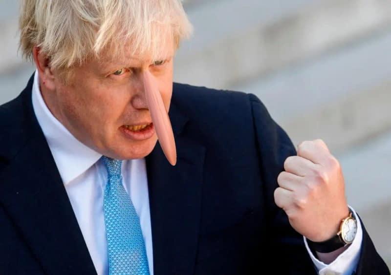 Lügenbold Boris Johnson