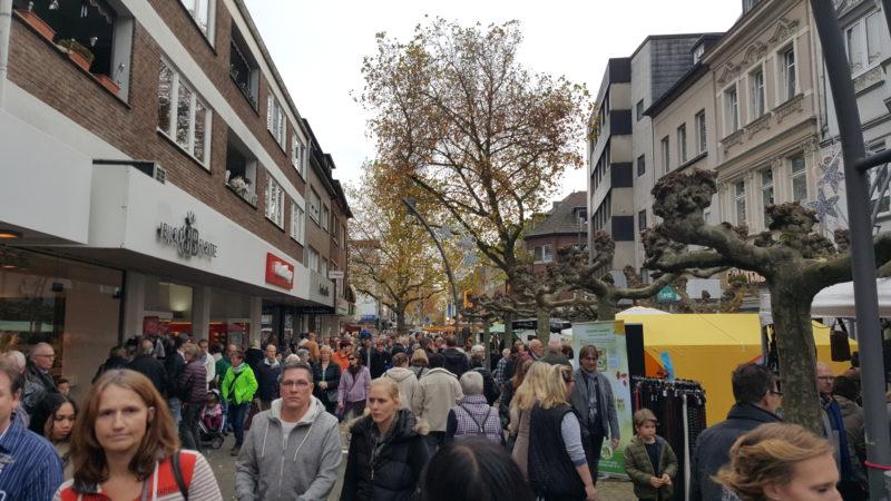 Fußgängerzone in Viersen