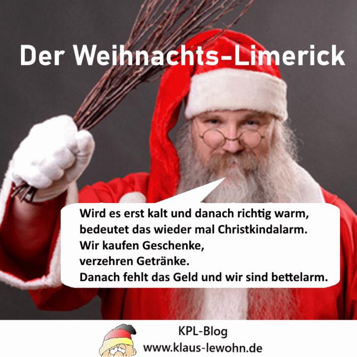 Der Weihnachts-Limerick - © 2019 by Klaus P. Lewohn